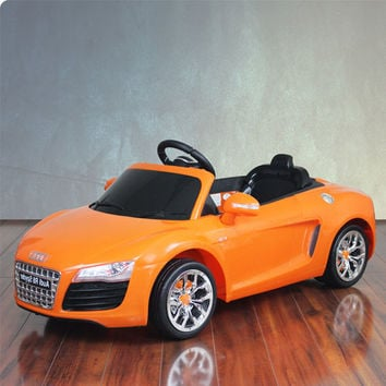 Audi R8 Spyder Orange Electric Car