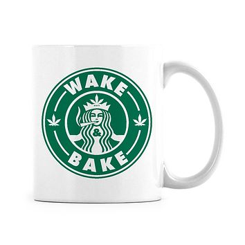 Wake and Bake Starbuds Mug Starbuds Stoner Coffee Mugs Stoner Gag Mug Wake and Bake Gig Gift for Stoners