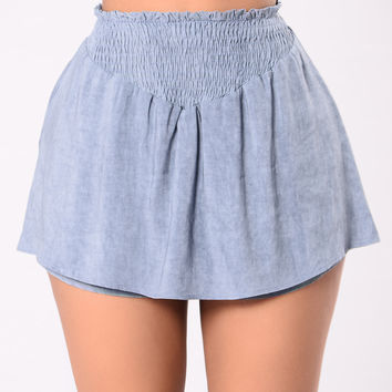 Dream Of You Shorts - Dusty Blue