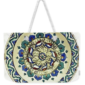 An Ottoman Iznik Style Floral Design Pottery Polychrome, By Adam Asar, No 18a - Weekender Tote Bag