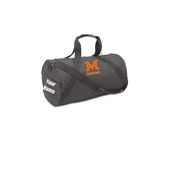 Custom Personalized Barrel Duffel Bag. Great For School Or College.
