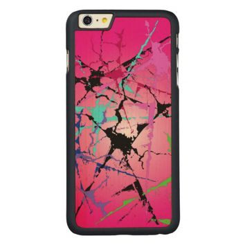 colorful abstract pattern,with pink backround carved® maple iPhone 6 plus slim case