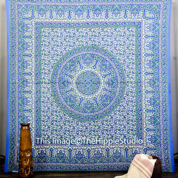 Mandala Tapestries, Hippie Tapestries. Tapestry Wall Hanging, Bohemian Tapestries, Paisley Tapestry, Dorm Decor MandalaTapestry, Beach Sheet