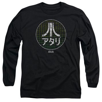 Atari Long Sleeve T-Shirt Japanese Grid Logo Black Tee