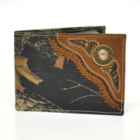 Nocona Bi-fold Genuine Leather Camo Western Men's Wallet w/Concho-N54442222