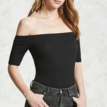Rib Off-the-Shoulder Bodysuit