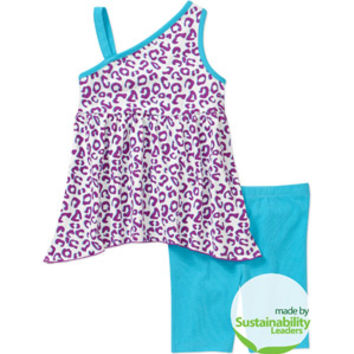Walmart: Healthtex Baby Toddler Girl 2-Piece Tunic and Shorts Set