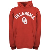 Oklahoma Sooners Youth Crimson Tackle Twill Hooded Sweatshirt