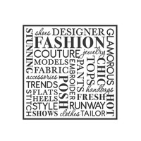 wall quotes wall decals - FASHION Word Collage