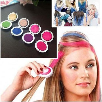 Hot 4 Colors Fashion Non-toxic Temporary Hair Chalk Dye Soft Pastels Salon Tools