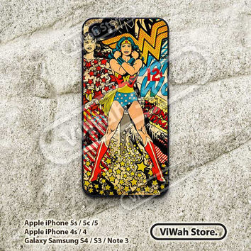 Wonder Woman, Pop Art, iPhone 4 Case, iPhone 4s Case, Superhero, DC Comic, iPhone 5 Case, iPhone 5s Case, iPhone 5c Case, Hard Case, WW01