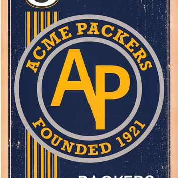 Green Bay Packers Retro NFL Logo Poster 22x34