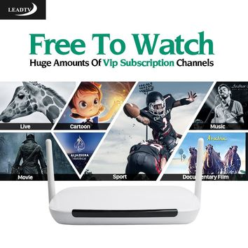 Best Arabic French Europe IPTV Box Leadtv APK 700 IPTV Channels Italia Spain Germany Tunisia Smart Android TV Set Top Box Player