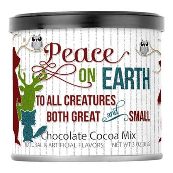 Peace on Earth Glitter Style Woodland Creatures Hot Chocolate Drink Mix
