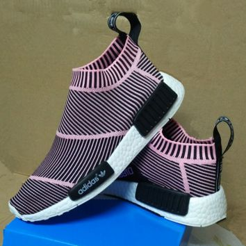 "Women ""Adidas"" NMD Boost Fashion Trending Black and Pink Leisure Running Sports Shoes"