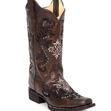 Corral Embroidered Square Toe Cowboy Boot