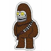 DAY OF THE DEAD SUGAR SKULL STAR WARS COLLECTABLE CHEWBACCA ARTWORK STICKER | eBay