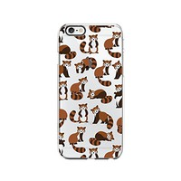 Cute Racoon Pattern Transparent Silicone Plastic Phone Case for iphone 7 _ LOKIshop (iphone 7)