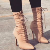 Hot style cross strap thin heel high heel women's shoes