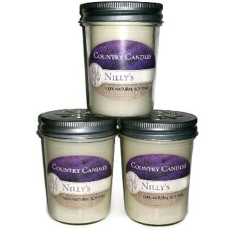 Vegan Set of 3 - 8 oz. Soy Wax Jelly Jar Candles