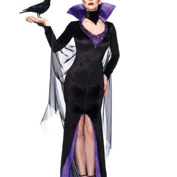 Leg Avenue Women's Disney 3Pc. Maleficent Costume Dress and Head Piece Black