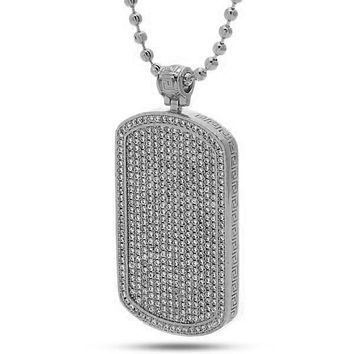 The White Gold Dog Tag Necklace - Designed by Snoop Dogg x King Ice