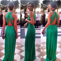 Sleeveless sexy  backless dress GV1215FH