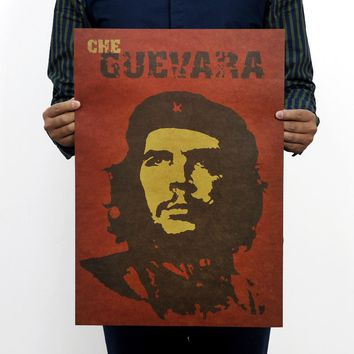 Famous Man Che Guevara Posters Advertising Party Supply Old Bar Complex Decorative World History Painting Vintage Home Decor