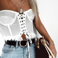 Lace White Crop