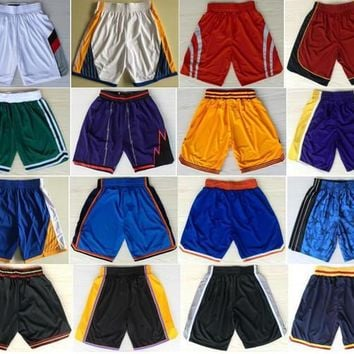 Cheap Basketball Shorts Sport Pants All Team Sportwear 0 Westbrook Lillard 2 Wall Leonard 4 Thomas 13 Harden 23 James 35 Durant Curry