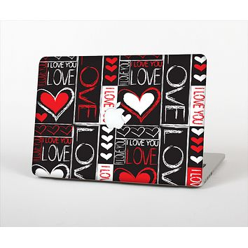 "The Sketch Love Heart Collage Skin Set for the Apple MacBook Pro 13"" with Retina Display"