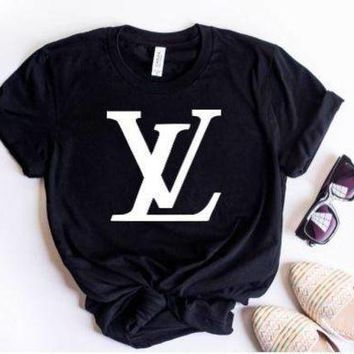 "Gotopfashion ""LV""Hot letters print T-shirt top"