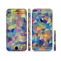 The Colorful Vibrant Triangle Connect Pattern Sectioned Skin Series for the Apple iPhone 6 Plus