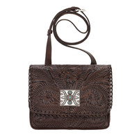 Grand Prairie Crossbody Flap Bag - Chestnut Brown