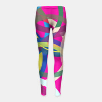 Spinning around-abstract modern design Girl's Leggings, Live Heroes