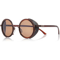 Brown Jeepers Peepers round sunglasses