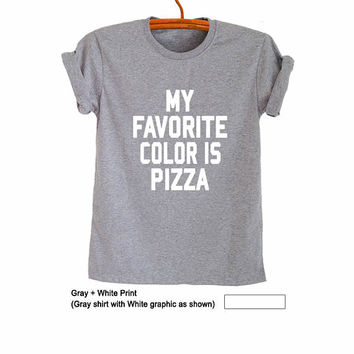 Fashion T Shirt Pizza TShirt Funny T-Shirts Teen Tops for Women Mens Shirts with Quotes Outfits Gifts for Friends