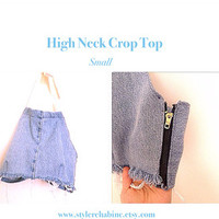 New.  Frayed Crop Top!  Small.  Perfect for Festivals, Coachella, Summer, the Beach, teen. Crochet petite top.