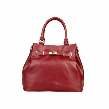 MADE IN ITALIA VERONA Leather Top Handle Bag