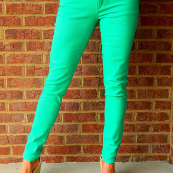 Skinny Minnie Jeggings Jade