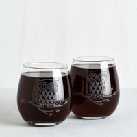 ModCloth Owls Owl Have the Red Wine Glass Set