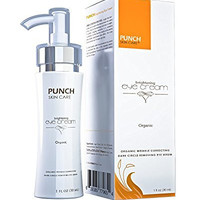 3 stage enhanced treatment, relives microscopic tension in blood vessels under the skin. PUNCH Skin Care® Brightening Eye Cream 1 oz, Dark Circle Eye Treatments, Wrinkles & Bags Under Eyes Treatment, All-Natural, Lightweight Oil-Free Formulation