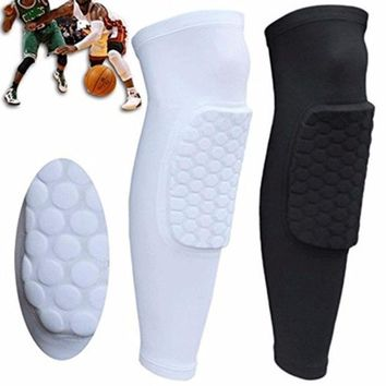 DCCKNY6 Short Leg Knee Protector Gear Hot Kids Adult Pad Basketball Leg Knee Long Sleeve Protector Gear Crashproof
