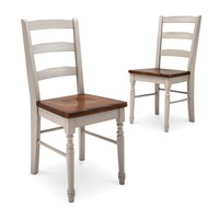Mulberry Two Tone Distressed Dining Chair