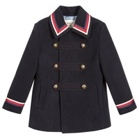 Boys Blue Pea Coat