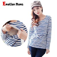 Emotion Moms Long sleeve Maternity clothes maternity shirt Breastfeeding Tops Nursing Top pregnancy clothes for Pregnant Women