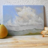 Clouds above Porchiano del Monte - Poetic Original OOAK Oil Painting, Signed & Numbered