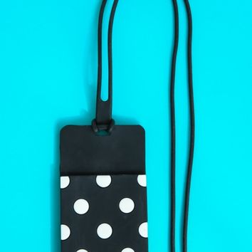 Kate Spade New York Who Me? ID Holder-Black Dots