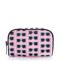 FOREVER 21 Sunglasses Midsize Cosmetic Bag Pink/Multi One