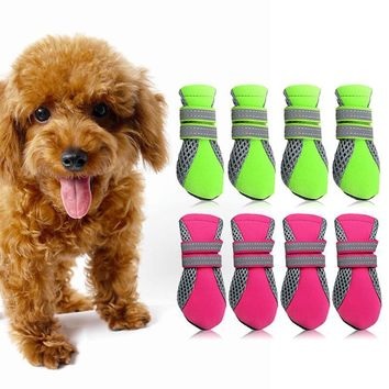 New Arrival 4 Sizes Pet shoes Teddy Schnauzer puppy dog shoes casual walking shoes Gre